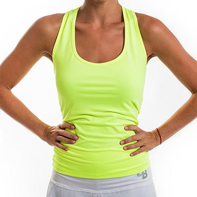 Camiseta BB básica amarillo fluor